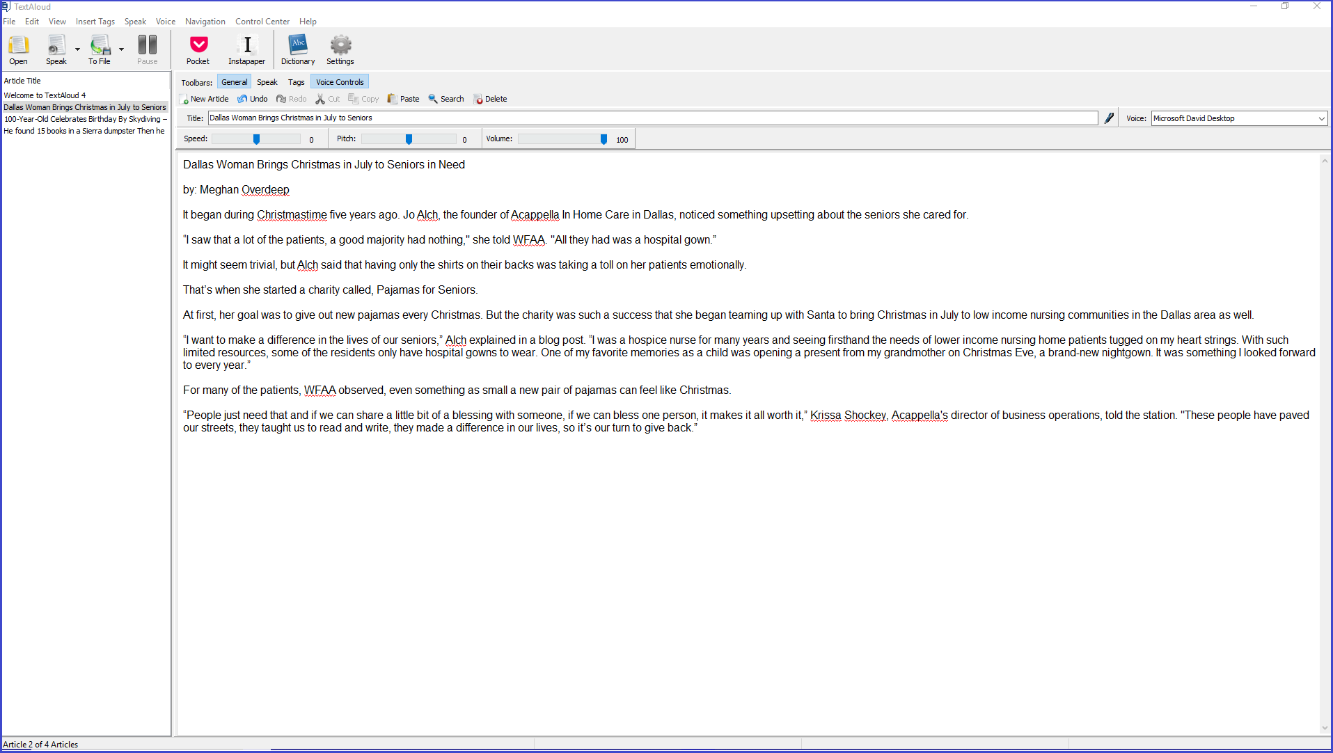 Upgrade to TextAloud 4 Text to Speech Software